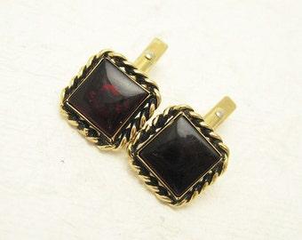 Red Vintage Cufflinks Vintage Mens Jewelry H766