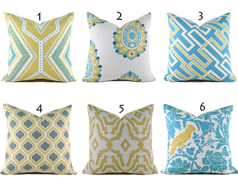 How To Measure Throw Pillow Covers : Yellow Pillow Covers ANY SIZE Decorative Pillows Pillow