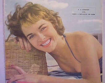 July 1950 Woman's Home Companion Magazine with cover By Ewing Krainin has 148 pages of ads and articles No. 2