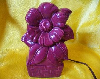 Floral T.V. Lamp