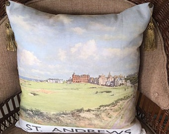 Golf Pillow Featuring St. Andrews