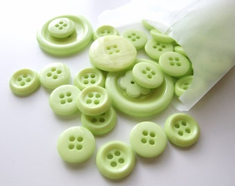 Pure Lime Green Button Stash