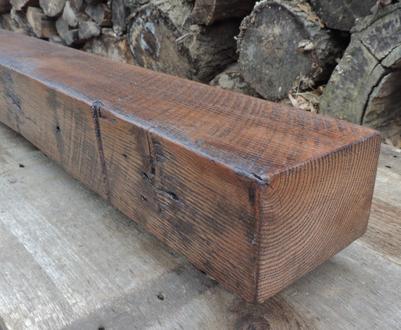 Reclaimed Wood Fireplace Mantel Or Mantle Shelf By Harvestbilt