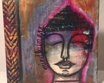 Original Mixed Media Artwork - Mindfulness