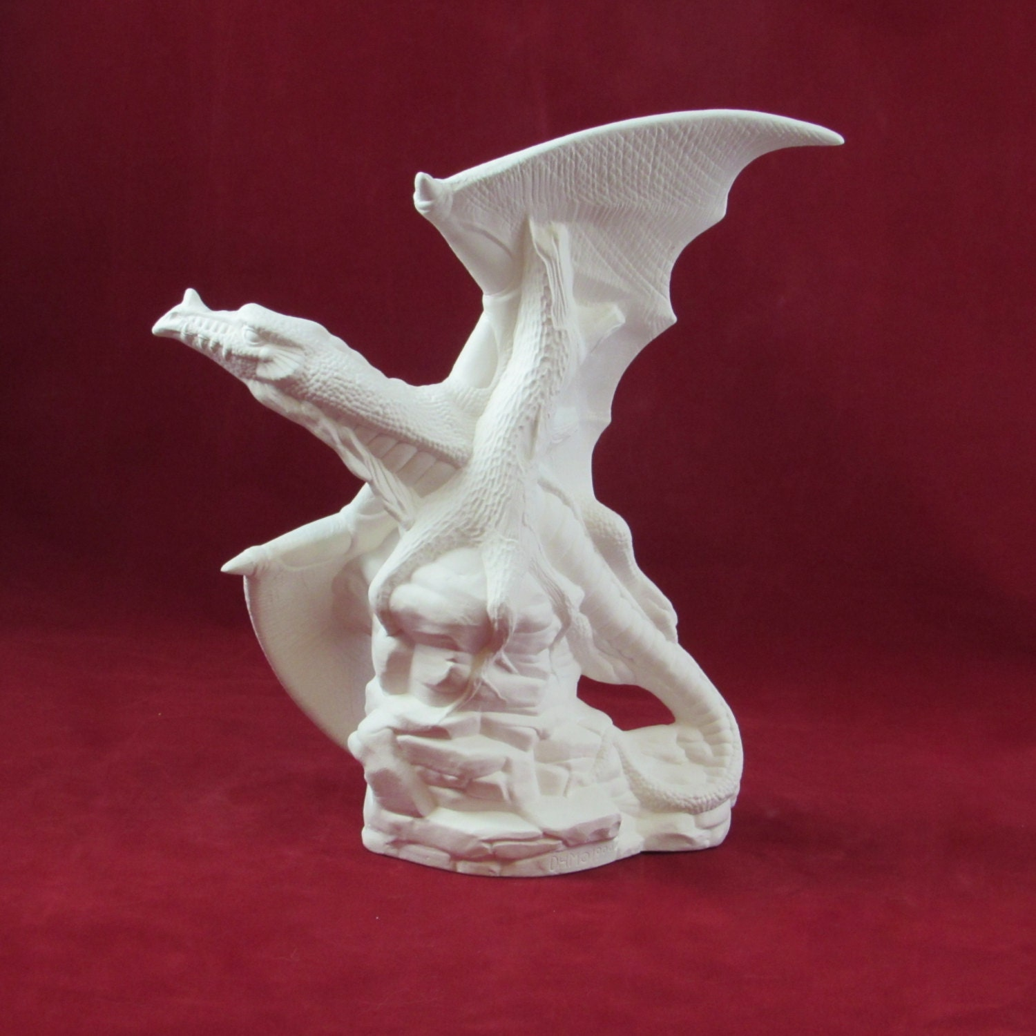 Ceramic ready to paint flying dragon 9 inches tall for Ceramic based paint