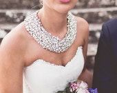 Flower Garden - Couture Crystal Tulle Collar - As seen on Rock My Wedding