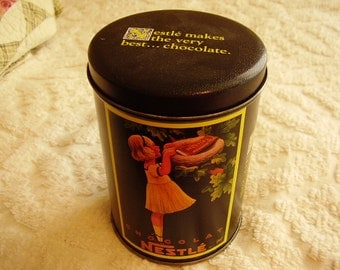 Vintage Collectible NESTLE Tin/1988