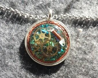 Shimmering Clockwork necklace
