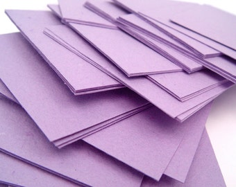 Purple handmade paper cardstock, cut edges, recycled, 10 small sheets, 4.25 x 5.5 inch