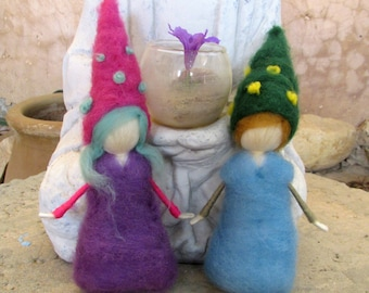 Needle felted Waldorf Dolls,fairies and pixies,Art Doll Felt,Soft Sculpture,Standing Doll,Birthday Gift
