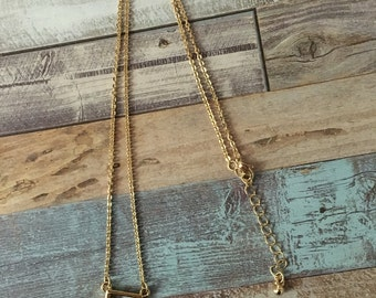 Silver triangle necklace/Geometric Minimal Necklaces/Square/triangle/Gold/Silver/Gift