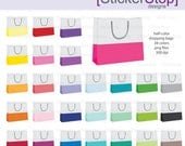 Colorful Shopping Bags Digital Clipart - Instant download PNG files
