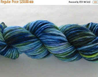 20% OFF Hand Dyed Bulky Yarn - Frances (Indian Motmot)