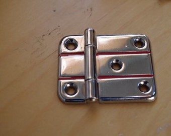 Pair of Vintage 1940s Art Deco Chrome Cabinet Hinges NOS - quantities available