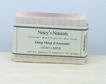 Ylang Ylang and  Lavender Goat's Milk Soap Bar