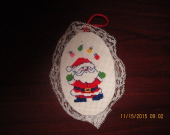 Santa with Lights Christmas Tree Ornament