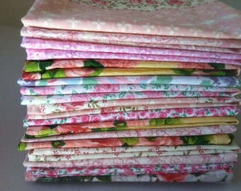 Bridal Shower Cloth Napkins, Beautiful Floral Fabrics 12 inch, Set of 12, by CHOW with ME