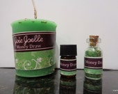 Money Draw Green Spell Candle Kit, for attracting money, wealth, prosperity, abundance, good luck