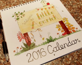 "2016 Illustrated Calendar ""Little Agarick"""