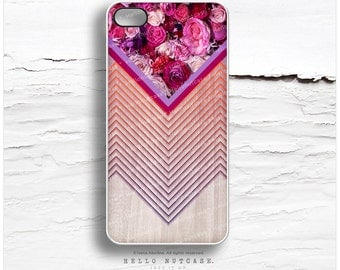 iPhone 6S Case, iPhone 6S Plus Case Wood Print, iPhone 5s Case Chevron, iPhone 6 Case, Geometric iPhone Case, Pink Floral iPhone Cover I72