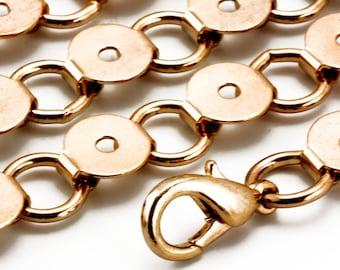 25 Bulk Bracelet Blanks, Wholesale, DIY Bracelet Findings, Flat Surface for Gluing Cabochons, Buttons, Gold Tone Brass, Ring & Connector