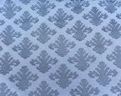 "2 + Yards Blue Medallion Upholstery Fabric Heavy Sewn Jacquard Design Cornflower Blue Regal Fabric 56"" Wide Brocade Cotton Fabric"