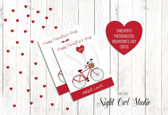 Personalized Valentine S Day Cards Children S Valentine Cards