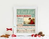 Santa Claus Mail St. Nick Art Printable Better not pout better not cry Have you been naughty or nice (187AOWD) Mix Media Digital Art Print
