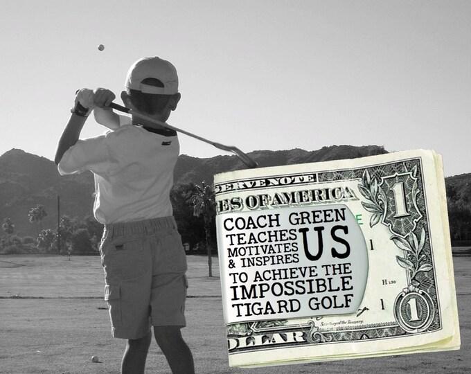 Golf Coach | Golf | Coach Gift | Gift for Coach | Coach Appreciation | Appreciation Gift | Custom Money Clip | Korena Loves