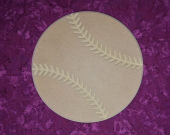 "Softball Cut Out Unfinished MDF Wooden Shapes 12"" Inch"