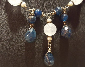 Aqua Marine and Appetite Necklace