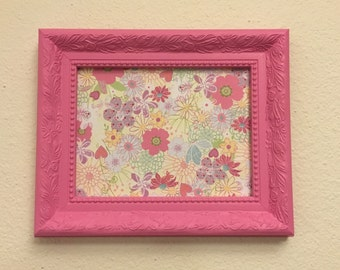 6x8 Pink Upcycled Handpainted Wall Picture Frame