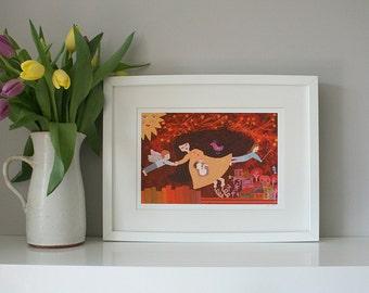 Framed Print A4 - Mama