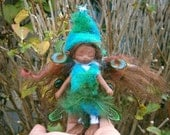 fairy doll,  african american clay doll, art doll,  posable doll, woodland fairy collectible fairy sale