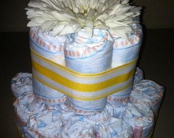 Custom Made Two Tier Diaper Cake