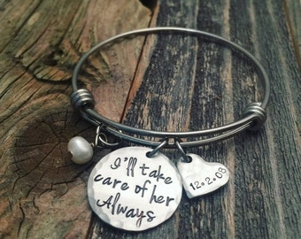 25% OFF Adoption gift, Promise Gift, Birth Mother, Ill take care of her always
