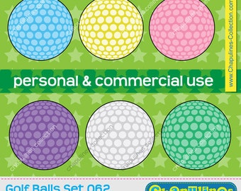 60% off Golf ball clipart, commercial use, golf scrapbooking, graphics, golf PNG set 062