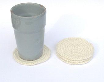 Crochet Coasters Coffee Tea / Housewarming Gift / Hostess Gift