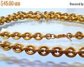 SALE 30 MONET 30 Inch Heavy Textured Vintage Necklace Timeless Striking Design