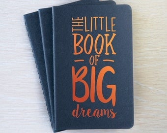 Moleskine Notebook A6 - The Little Book Of Big Dreams, Plain Black Copper & Brown Gold notebook pocket cahier journal sketchbook notepad
