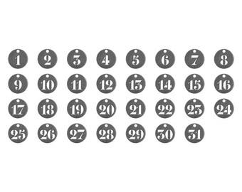 Advantus - Tim Holtz - Ideaology - Number Tokens
