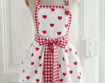 Valentine's Day retro kitchen apron pin up