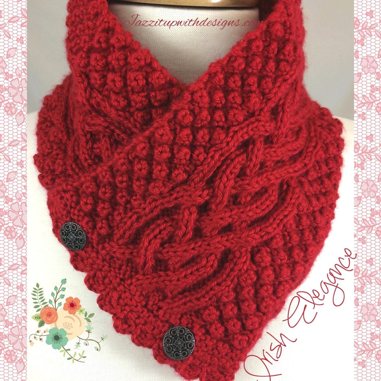 Celtic Trinity Knot Knitting Pattern : Neckwarmer Irish Celtic Knot Trinity You by JazzitUpwithDesigns