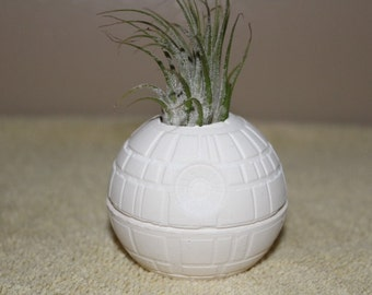 Star Wars Death Star planter, air plant holder, Star Wars wedding favors, desk planter, gift,wedding favor  FREE GIFT W/PURCHASE
