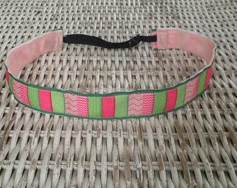 Chevron Women's Headband - Running Patchwork Headband