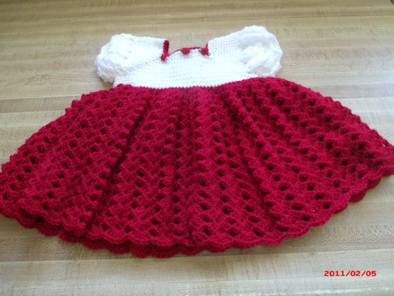 Baby s first christmas dress 0 to 3 months by rgilliland on etsy