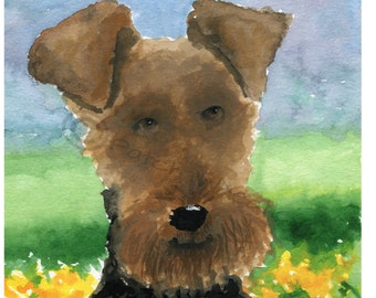 Welsh Terrier Dog Art Print  #76