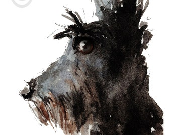 Scottish Terrier Dog  Art Print Scottie Dog #46