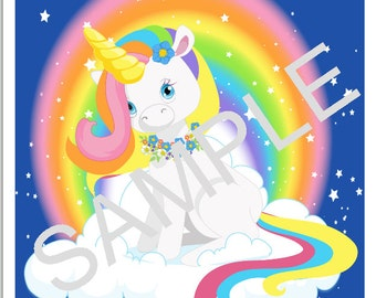 DYI Printable Pin the Horn on the Unicorn Game