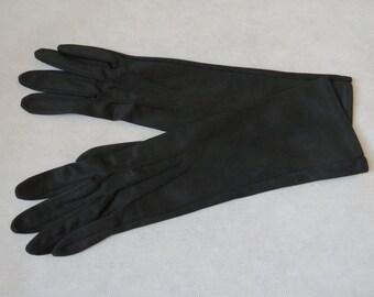 Black Three-Quarter Length Gloves
